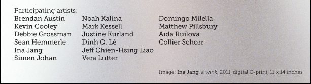 Image: Ina Jang, a wink, 2011, digital C-print, 11 x 14 inches